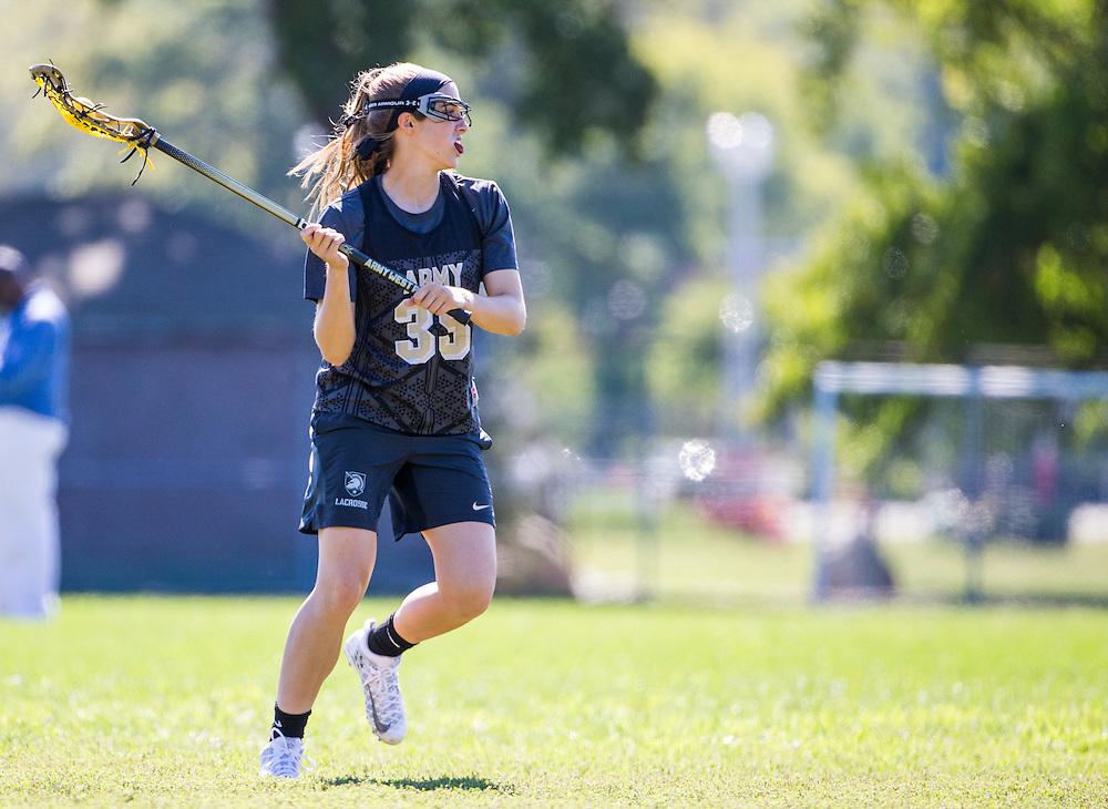 Taylor Korpela (35) of Army<br /> Army Women's Lacrosse Scrimmage - Lax<br /> Stony Brook University - Stony Brook, NY<br /> September 24, 2016