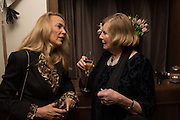 JERRY HALL; LADY GLENCONNER, Nicky Haslam hosts dinner at  Gigi's for Leslie Caron. 22 Woodstock St. London. W1C 2AR. 25 March 2015