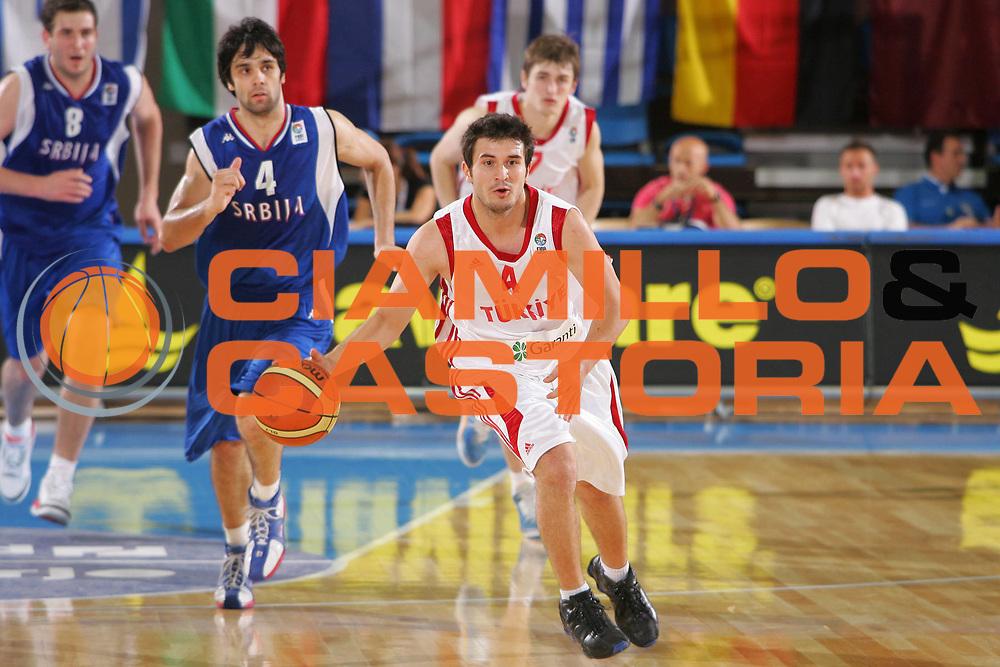 DESCRIZIONE : Gorizia U20 European Championship Men Qualifying Round Turkey Serbia <br /> GIOCATORE : Akis <br /> SQUADRA : Turkey <br /> EVENTO : Gorizia U20 European Championship Men Qualifying Round Turkey Serbia Campionato Europeo Maschile Under 20 Qualificazioni Turchia Serbia <br /> GARA : Turkey Serbia <br /> DATA : 10/07/2007 <br /> CATEGORIA : Palleggio <br /> SPORT : Pallacanestro <br /> AUTORE : Agenzia Ciamillo-Castoria/S.Silvestri <br /> Galleria : Europeo Under 20 <br /> Fotonotizia : Gorizia U20 European Championship Men Qualifying Round Turkey Serbia <br /> Predefinita :