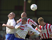 20/09/2003.Nationwide Div 2 Brentford v Hartlepool..High Ball left to right Michael Nelson, Eddie Hutchinson, Mark Tinkler and