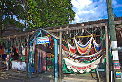 Roatan, Honduras:  Gift Shop Evelyn on the main drag of West Bay, the commercial settlement at the far end of this barrier island off the north coast of Honduras.