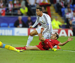 Real Madrid's Cristiano Ronaldo scores - Photo mandatory by-line: Joe Meredith/JMP - Mobile: 07966 386802 12/08/2014 - SPORT - FOOTBALL - Cardiff - Cardiff City Stadium - Real Madrid v Sevilla - UEFA Super Cup