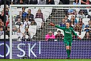 Courtney Brosnan (GK) (West Ham) during the FA Women's Super League match between West Ham United Women and Tottenham Hotspur Women at the London Stadium, London, England on 29 September 2019.