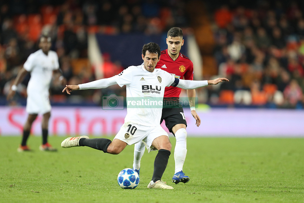December 12, 2018 - Valencia, Spain - December 12, 2018 - Valencia, Spain - .Daniel Parejo of Valencia during the UEFA Champions League, Group H football match between Valencia CF and Manchester United on December 12, 2018 at Mestalla stadium in Valencia, Spain (Credit Image: © Manuel Blondeau via ZUMA Wire)