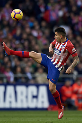 February 9, 2019 - Madrid, Madrid, Spain - Angel Correa of Atletico Madrid controls the ball during the week 23 of La Liga between Atletico Madrid and Real Madrid at Wanda Metropolitano stadium on February 09 2019, in Madrid, Spain. (Credit Image: © Jose Breton/NurPhoto via ZUMA Press)