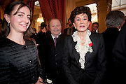 JACQUELINE DE RIBES; granddaughter alix de la rochefacourt, . Legion d'honneur awards. Elysee Palace, Presidence. Rue du Faubourg. 50 Rue de la Bienfaisance. Paris. 07 April 2010
