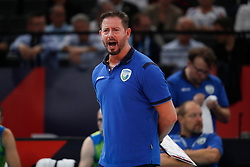 PARIS, FRANCE - SEPTEMBER 29: Alberto Giuliani Head Coach of Slovenia reacts to a play during the EuroVolley 2019 Final match between Serbia and Slovenia at AccorHotels Arena on September 29, 2019 in Paris, France.  Photo by Catherine Steenkeste / Sipa / Sportida