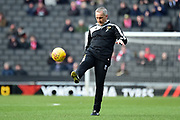 MK Dons assistant manager Keith Millen during the EFL Sky Bet League 1 match between Milton Keynes Dons and Charlton Athletic at stadium:mk, Milton Keynes, England on 17 February 2018. Picture by Dennis Goodwin.