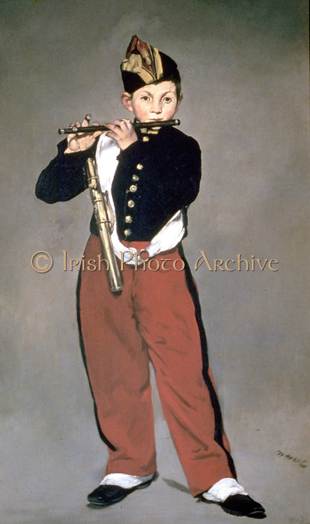The Fife Player (1866). Painting by Edouard Manet (1832-1883) French Impressionist painter. Oil on canvas.