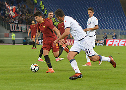 October 25, 2017 - Italy - Diego Perotti,  during the Italian Serie A football match between A.S. Roma and F.C. Crotone at the Olympic Stadium in Rome, on october 25, 2017. (Credit Image: © Silvia Lor/Pacific Press via ZUMA Wire)