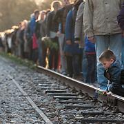 Nederland - Hooghalen - Drenthe - 04-05-2013<br /> <br /> Herinneringscentrum Kamp Westerbork.<br /> Dodenherdenking.<br /> <br /> Foto: Sake Elzinga