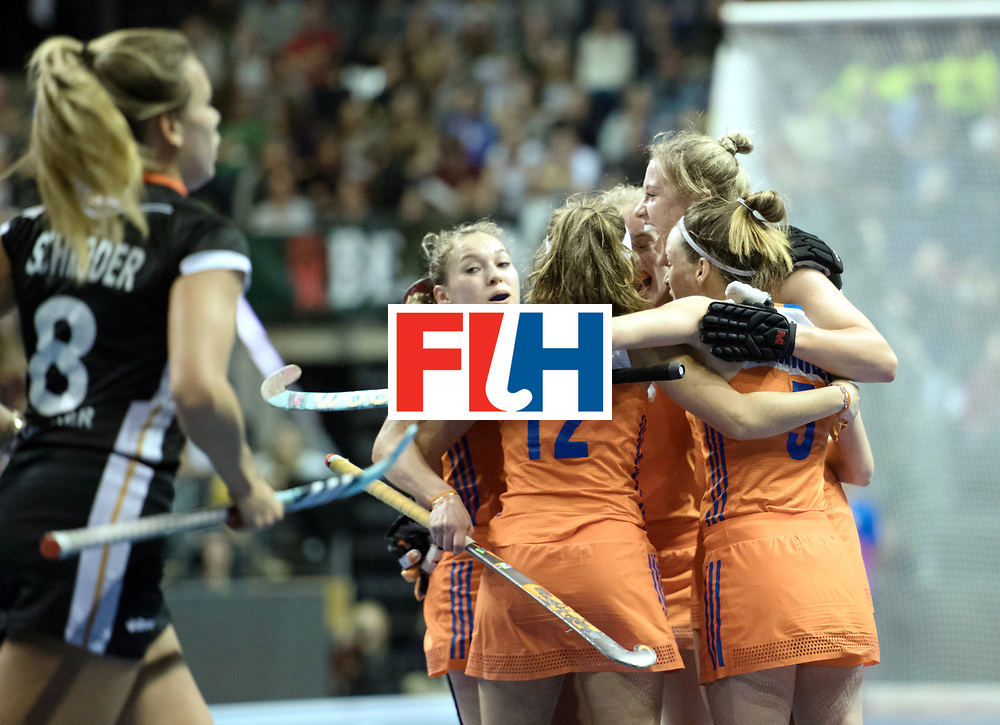 BERLIN - Indoor Hockey World Cup<br /> Final: Netherlands - Germany<br /> foto: <br /> WORLDSPORTPICS COPYRIGHT FRANK UIJLENBROEK
