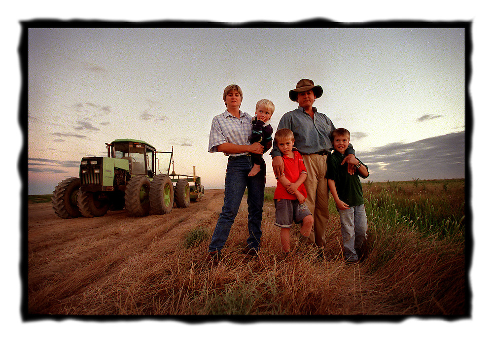 csz981121.001.002.jpg..farmers Lu Hogan and Dan with their kids Hugh 3, Max 6 and Angus 8, pic by Craig Sillitoe. melbourne photographers, commercial photographers, industrial photographers, corporate photographer, architectural photographers, This photograph can be used for non commercial uses with attribution. Credit: Craig Sillitoe Photography / http://www.csillitoe.com<br />