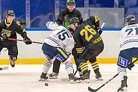 2019-02-27 | Malmö, Sweden: IK Pantern vs BIK Karlskoga at Malmö Isstadion, Malmö. Photo by:  Jimmy Palm I Swe Press Photo<br /> <br /> Keywords: Ice Hockey, Ishockey, Hockeyallsvenskan, IK Pantern, BIK Karlskoga, Malmö Isstadion, Malmö