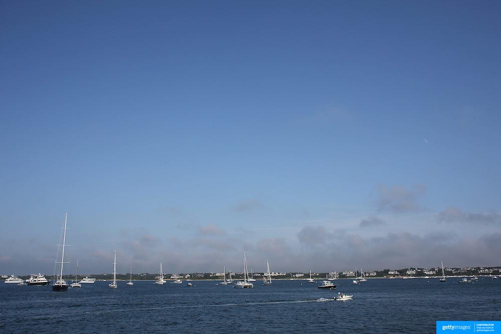 Sailing boats off the coastline of Nantucket Island, Massachusetts, USA. Photo Tim Clayton