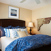 AVALON, NJ - JUNE 10, 2017: The west bedroom on the first floor. 4738 Ocean Dr, Avalon, NJ. Credit: Albert Yee for the New York Times
