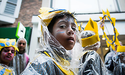 © Licensed to London News Pictures. <br /> 06/06/2014. <br /> <br /> Middlesbrough, England<br /> <br /> Children and community groups take part in a parade through the town to launch the 24th Middlesbrough Mela event.<br /> <br /> The Middlesbrough Mela has become the largest and most spectacular multicultural festival in the North East.<br /> <br /> Photo credit : Ian Forsyth/LNP