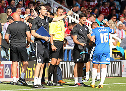 Peterborough United's first team coach Gary Breen issues instructions - Photo mandatory by-line: Joe Dent/JMP - Tel: Mobile: 07966 386802 03/08/2013 - SPORT - FOOTBALL -  London Road Stadium - Peterborough -  Peterborough United v Swindon Town - Sky Bet One