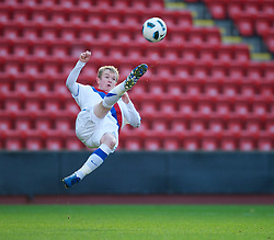 LIVERPOOL, ENGLAND - Saturday, January 8, 2011: Crystal Palace's Jonathan Williams in action against Liverpool during the FA Youth Cup 4th Round match at Anfield. (Pic by: David Rawcliffe/Propaganda)
