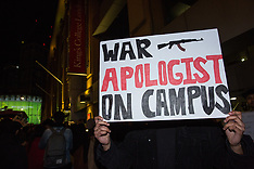 2018-11-13 KCL students protest Mark Regev