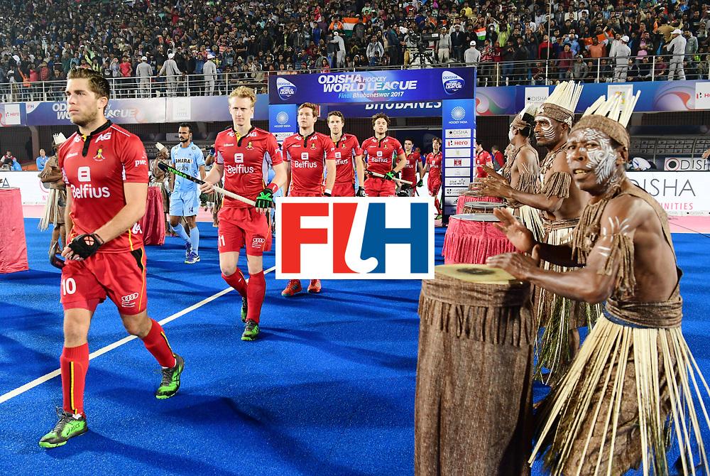 Odisha Men's Hockey World League Final Bhubaneswar 2017<br /> Match id:13<br /> Belgium v India<br /> Foto: Line Up<br /> COPYRIGHT WORLDSPORTPICS FRANK UIJLENBROEK