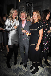 Left to right, AMANDA WAKELEY, ALLAN PETERS and TRACEY EMIN at a dinner hosted by Ruinart in honour of Amanda Wakely at The Connaught, Carlos Place, London on 20th October 2010.