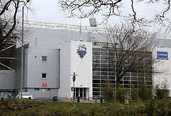 A general view of the outside of Deepdale, home of Preston North End, from a local parkDeepdale, home of Preston North End, towers above the local houses - Mandatory by-line: Robbie Stephenson/JMP - 06/03/2018 - FOOTBALL - Deepdale - Preston, England - Preston North End v Bristol City - Sky Bet Championship