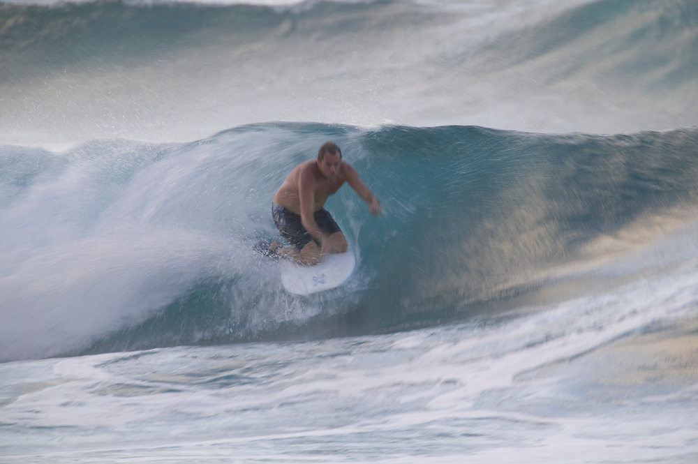 Bodyboader at Sandy Beach