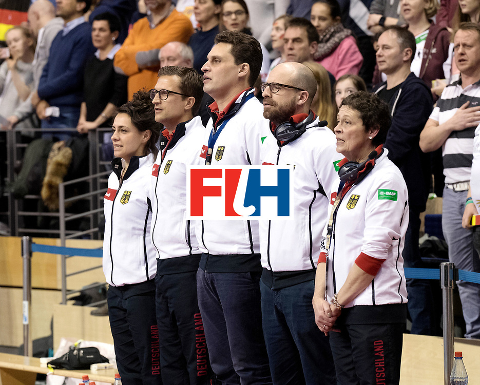 BERLIN - Indoor Hockey World Cup<br /> Semi-final: Belarus - Germany<br /> foto: German staff.<br /> WORLDSPORTPICS COPYRIGHT FRANK UIJLENBROEK