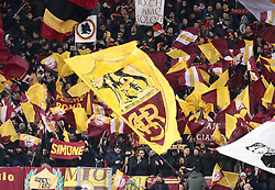 November 27, 2018 - Rome, Italy - AS Roma v FC Real Madrid : UEFA Champions League Group G.Roma supporters at Olimpico Stadium in Rome, Italy on November 27, 2018. (Credit Image: © Matteo Ciambelli/NurPhoto via ZUMA Press)