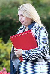 Downing Street, London, October 11th 2016. Government ministers arrive for the first post-conference cabinet meeting. PICTURED: Secretary of State for Culture, Media and Sport Karen Bradley.