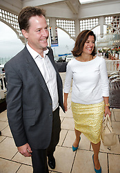Deputy Prime Minister Nick Clegg and leader of the Liberal Democrats with his wife Miriam González Durántez at the  Liberal Democrats Annual Conference in Brighton, on his 12th Wedding anniversary, Sunday September 23, 2012. Photograph by Elliott Franks / i-Images