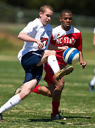 Virginia Cavaliers forward Brian Ownby (27).  The North Carolina State Wolfpack defeated the Virginia Cavaliers 1-0 in NCAA Men's Soccer during a spring scrimmage at the Klockner Stadium practice field on the Grounds of the University of Virginia in Charlottesville, VA on April 4, 2009.