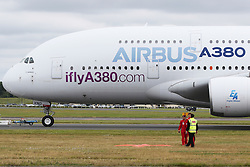 Airbus A380, Farnborough International Airshow, London Farnborough Airport UK, 15 July 2016, Photo by Richard Goldschmidt