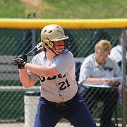 Goldey-Beacom outfielder Michelle Foster (21) set a GBC career record with her 155th career hit in the first inning of a NCAA Central Atlantic Collegiate Conference game against Nyack College Saturday, April 19, 2014, at Nancy Churchmann Sawin Athletic Field in Wilmington Delaware.<br /> <br /> Goldey-Beacom defeats Nyack College 10-5 in Game 1<br /> <br /> Nyack College defeats Goldey-Beacom 1-0 in Game #2