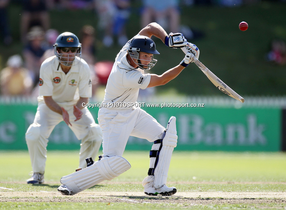 New Zealand batsman B J Watling batting.<br />