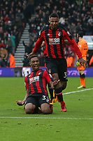 Football - 2017 / 2018 Premier League - AFC Bournemouth vs. Arsenal<br /> <br /> Bournemouth's Jordon Ibe slides on his knees in celebration after scoring the winner at Dean Court (Vitality Stadium) Bournemouth <br /> <br /> COLORSPORT/SHAUN BOGGUST