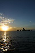 Sunset, Mangareva, Gambier Islands, French Polynesia<br />