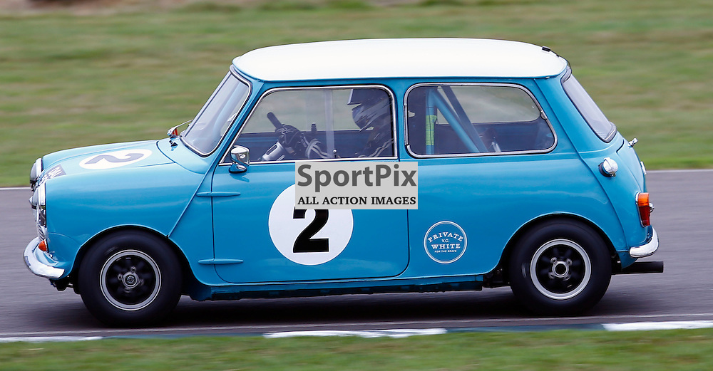 GOODWOOD REVIVAL......Sir Chris Hoy in a 1964 Austin Mini Cooper S competing in the St. Mary's Trophy race part 1...(c) STEPHEN LAWSON | SportPix.org.uk
