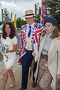 MARIKA STUART; WALTER WOMERSLEY; ARABELLA WOMERSLEY, Ladies Day, Glorious Goodwood. Goodwood. August 2, 2012