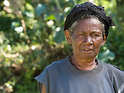 Mezgebe Ashengo, 80 years old, neighbour of Elfnesh Bonga has learnt some farming tecniques and is now eating more of a balanced diet of vegetables. As a result her eyesight has improved and she can now see better.