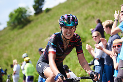 Kasia Niewiadoma (POL) approaches the final 100 metres at Giro Rosa 2018 - Stage 9, a 104.7 km road race from Tricesimo to Monte Zoncolan, Italy on July 14, 2018. Photo by Sean Robinson/velofocus.com