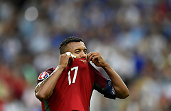 Nani of Portugal celebrates Winning the Uefa European Championship on the final whistle  - Mandatory by-line: Joe Meredith/JMP - 10/07/2016 - FOOTBALL - Stade de France - Saint-Denis, France - Portugal v France - UEFA European Championship Final