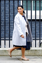 © Licensed to London News Pictures. 21/02/2017. London, UK. International Development Secretary PRITI PATEL leaves after a cabinet meeting in Downing Street, London on Tuesday, 21 February 2017. Photo credit: Tolga Akmen/LNP