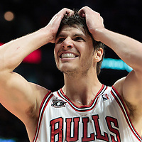 30 October 2010: Chicago Bulls Kyle Korver reacts during the Chicago Bulls 101-91 victory over the Detroit Pistons at the United Center, in Chicago, Illinois, USA.