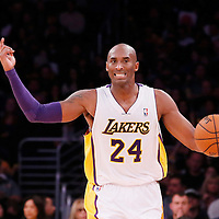 08 December 2013: Los Angeles Lakers shooting guard Kobe Bryant (24) brings the ball upcourt during the third quarter of the game between the Los Angeles Lakers and the Toronto Raptors at the Staples Center, Los Angeles, California, USA.