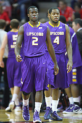 19 November 2011:  Zavion Williams followed by Deonte Alexander during an NCAA mens basketball game between the Lipscomb Bison and the Illinois State Redbirds in Redbird Arena, Normal IL