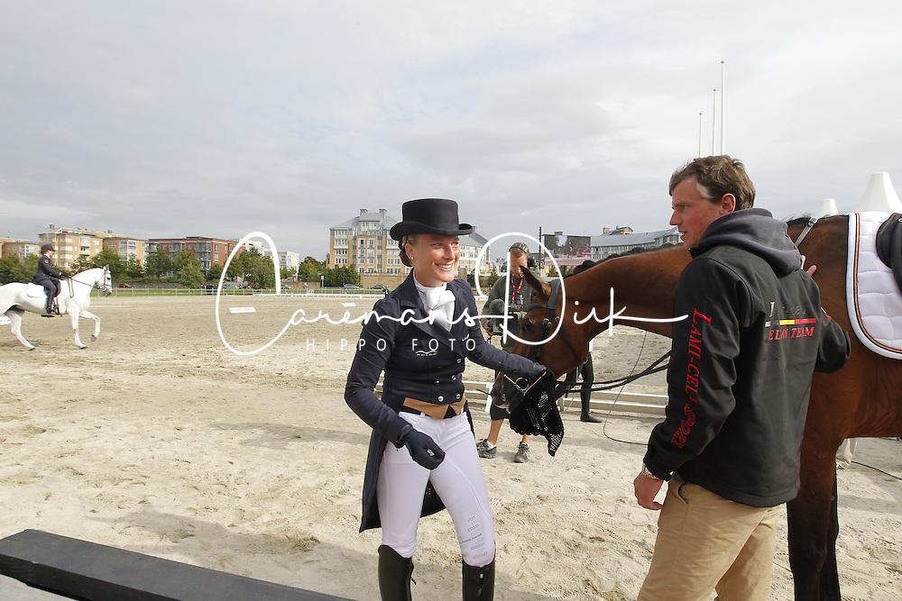 De Liedekerke Lara (BEL) - Ducati van den Overdam and her boyfriend Kai Steffen Meier (GER)<br /> HSBC FEI European Championships Eventing - Malm&ouml; 2013<br /> &copy; Dirk Caremans