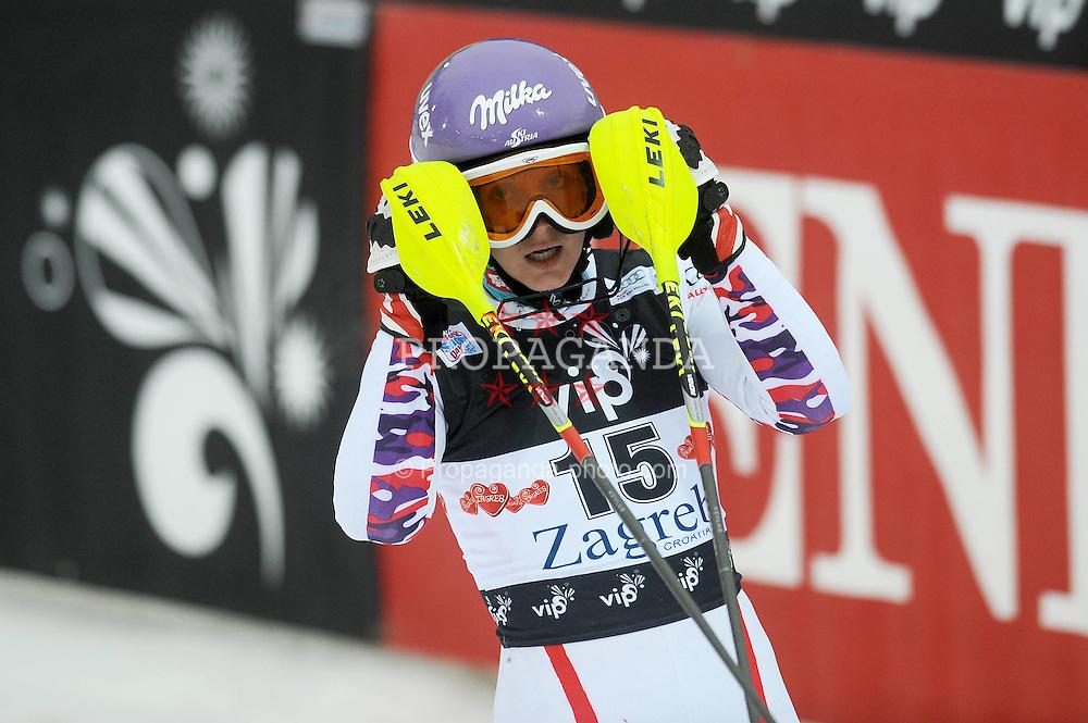 03.01.2012, Crveni Spust, Sljeme, CRO, FIS Weltcup Ski Alpin, Zagreb, Damen Slalom 1. Durchgang, im Bild Michaela Kirchgasser during Slalom race 1st run of FIS Ski Alpine World Cup at 'Crveni Spust' course in Sljeme, Zagreb, Croatia on 2012/01/03..EXPA Pictures © 2012, PhotoCredit: EXPA/ nph/ PIXSELL/ Daniel Kasap..***** ATTENTION - OUT OF GER, CRO *****