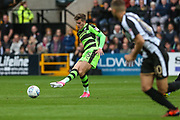 Forest Green Rovers Charlie Cooper(15) passes the ball during the EFL Sky Bet League 2 match between Notts County and Forest Green Rovers at Meadow Lane, Nottingham, England on 7 October 2017. Photo by Shane Healey.